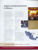 Monterrey Tech's Graduate School of Business Brochure