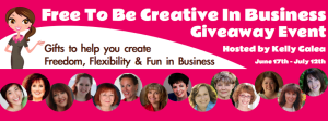 Free to be creative in business giveaway