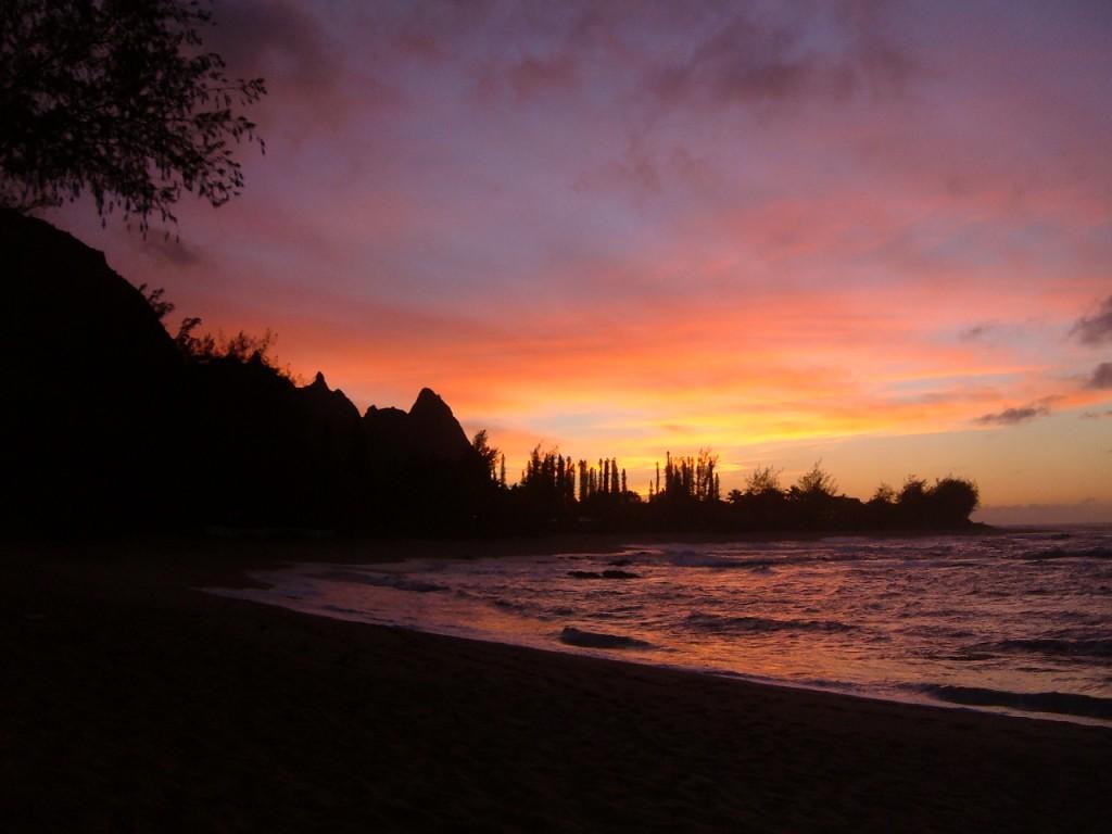 Sunset on Kauai, HI