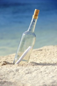Freelance life like message in a bottle