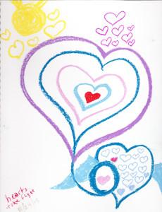 Hearts take flight