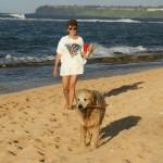 On the beach w/Ike